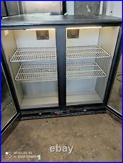 Infrico under counter commercial double door glass fridge bottle cooler
