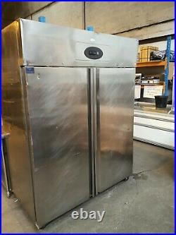 Interlevin Commercial Stainless Steel Upright Large Double Door Fridge