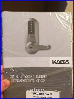Kaba Simplex 5000 Series Cylindrical Mechanical Pushbutton Lock, 5021XSWL