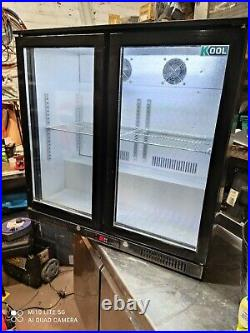 Kool under counter commercial double door glass fridge bottle cooler