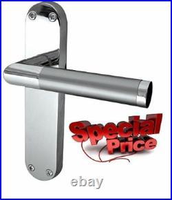 Lever Latch Door Handles Satin Nickel & Chrome Dual Finish 1-15 Pairs Mitred D9