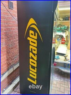 Lucozade 900 Ltr Commercial Glass Double Door Display Fridge / Drink Fridge
