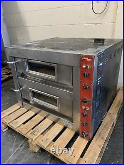 Monarch Double Twin Deck 2 Door Commercial Pizza Baking Oven Stone Based 3 Phase