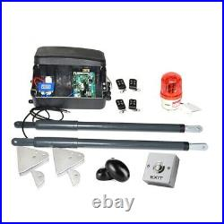 NSEE C07-5 12V 200KG/500LB Dual Operator Swing Gate Door Opener Solar Compatible