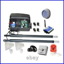NSEE C07-7 12V 200KG/500LB Dual Operator Swing Gate Door Opener Solar Compatible