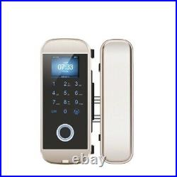 NSEE Fingerprint Electric Glass Door Gate Lock RFID Reader Touch Keypad Pincode