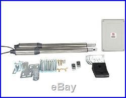 NSEE PKM-C01-7 500KG/1200LBS Double Opener Solar Swing Gate Door Operator Steel