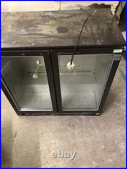 Osborne under counter commercial double door bottle fridge