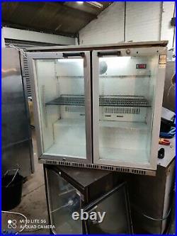 Osborne under counter commercial double door glass fridge bottle cooler