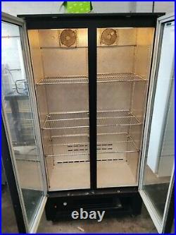 Osbourne Commercial double door display fridge drinks bottle cooler dairy etc