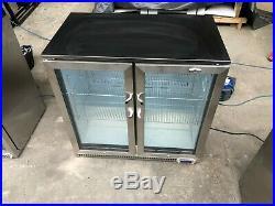 Outdoor Fridge Double Door under Counter Commercial bar fridge r ip rated