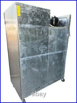 Parry Double Door Fridge, Commercial Stainless Steel Upright 2 Door Chiller