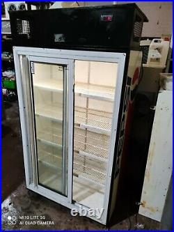Pepsi Commercial double door display fridge drinks bottle cooler
