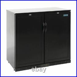 Polar Back Bar Cooler Double Solid Hinged Door 208L Commercial Display Fridge