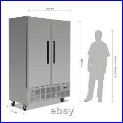 Polar Commercial Catering Double Door Slimline Freezer 960Ltr 1340Wx710Dx2010Hmm