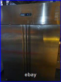 Polar Commercial Stainless Steel Upright Large Double Door Fridge Chiller Unit