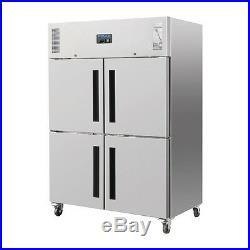 Polar Commercial Upright Double Stable Door Gastro Refrigerator 1200Ltr