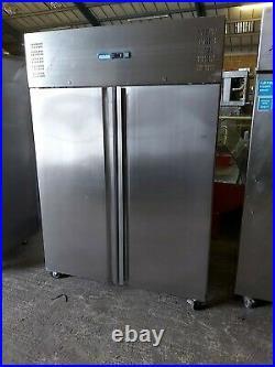 Polar Double Door Fridge Stainless Steel 1200Ltr G594 commercial chiller +1/+4