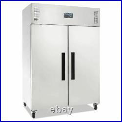 Polar Double Door Fridge Stainless Steel 1200 Litre Commercial Refrigerator