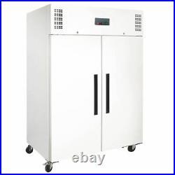 Polar Double Door Fridge White 1200 Litre Commercial Restaurant Refrigerator