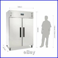 Polar Gastro 1200 litre Ltr Double Door Stainless Steel Fridge G594 Commercial