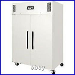 Polar Gastro 1200 litre ltr Double Door Freezer White Commercial Catering CD616