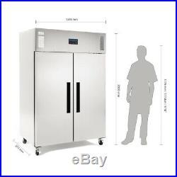 Polar Gastro 1200 litre ltr Double Door Stainless Steel Freezer Commercial G595