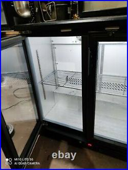Polar under counter commercial double door glass fridge bottle cooler