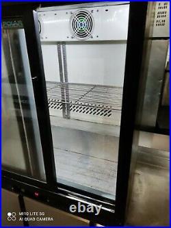 Polar under counter commercial double sliding door glass fridge bottle cooler