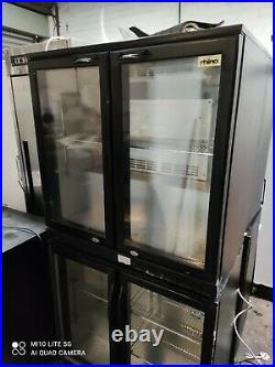 Rhino under counter commercial double door glass fridge bottle cooler