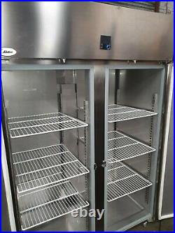 Sadia Commercial Stainless Steel Upright Large Double Door Fridge
