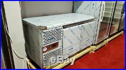 Sch -703 Two Double Door Commercial Prep Counter Fridge Stainless Steel