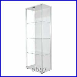 Stahldas Vue White Commercial Quality Double Door Glass Display/Trophy Cabinet