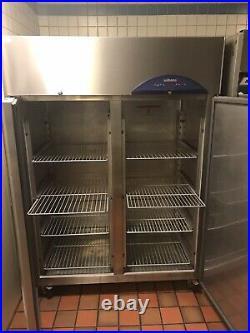 Stainless Steel Commercial Kitchen Double Door Fridge
