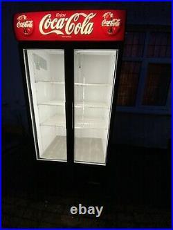 True Commercial Fridge Double Door Cooler Coca Cola
