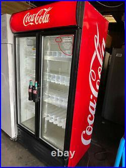 True GDM-35 Commercial Glass Double Door Display Fridge / Drink Fridge -900 Litr