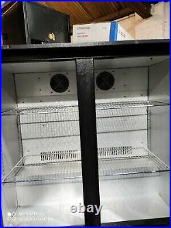 Under counter commercial double door glass fridge bottle cooler