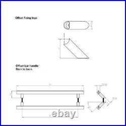 Upvc Offset Door Pull Handle Cranked T Bar 316 Stainless Steel