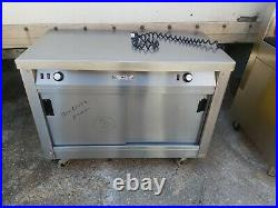 Victor commercial stainless steal hot-cupboard double sliding door worktop used