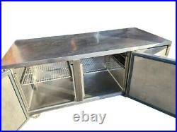 Williams Commercial Refrigerated Counter, Double Door Stainless Prep Meat Fridge