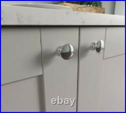 X100 Hafele Knob Ø 38mm Kitchen Cupboard Cabinet Drawer Handle St Steel Chrome