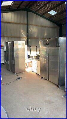 XL TEFCOLD Double Door Stainless Steel Commercial Fridge. Large (150cm Width)